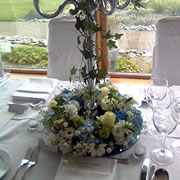 A table centre wreath base with Candelabra
